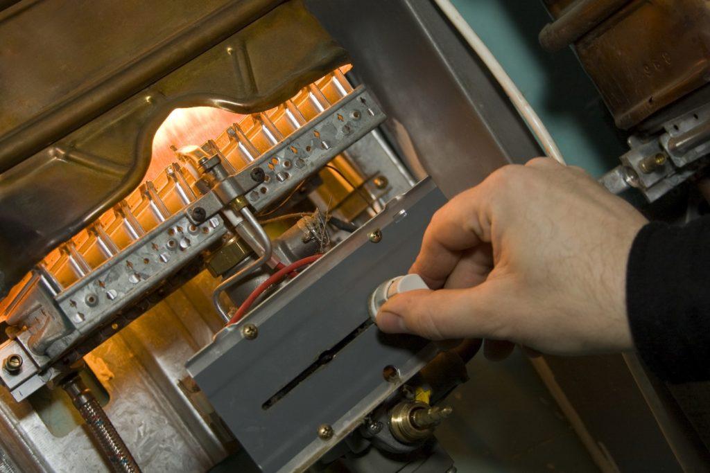hand adjusting gas furnace