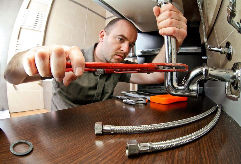 plumer repair dishwasher drain line