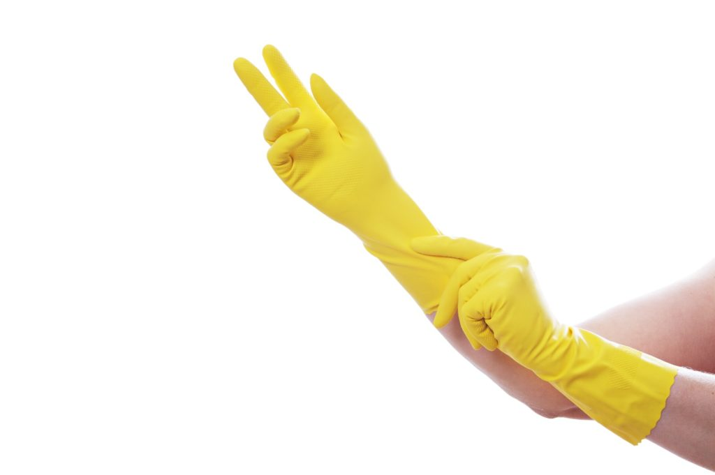 rubber gloves for cleaning