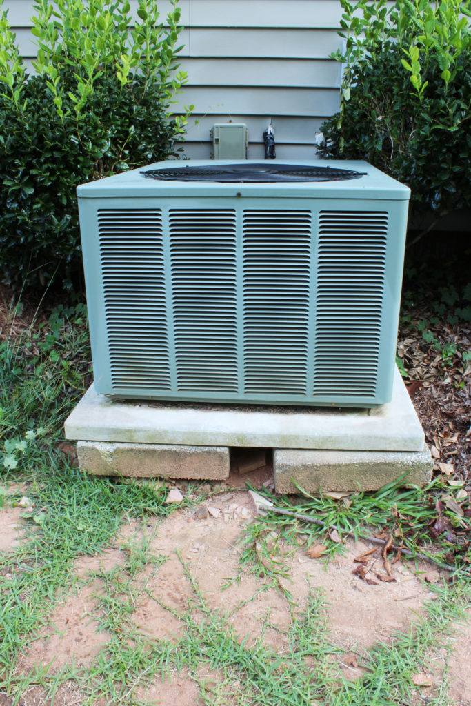 Front view of a heat pump