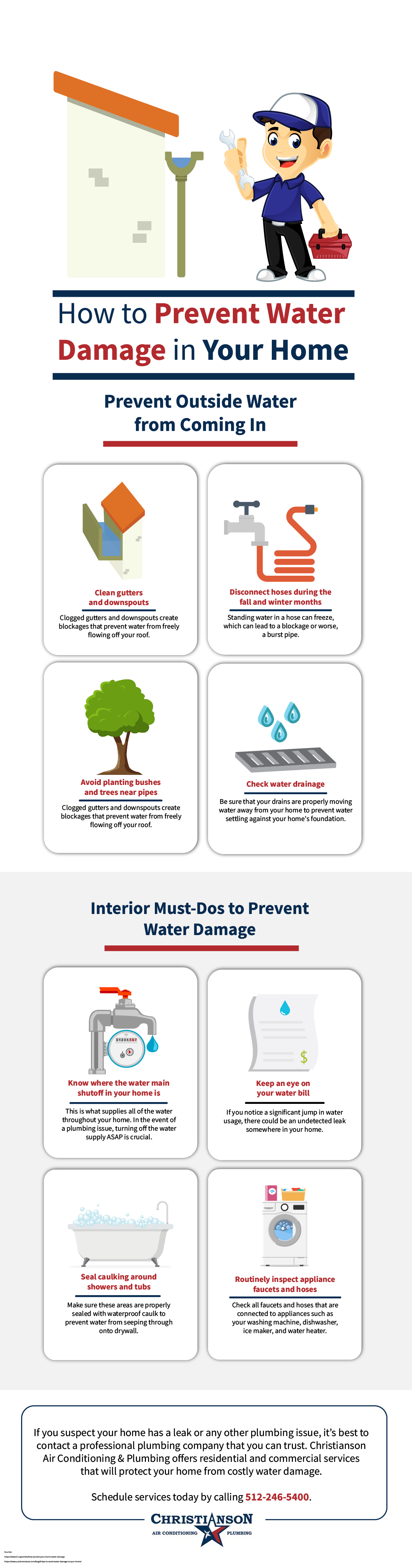 How to Prevent Water Damage in Your Home Infographic